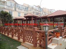 옥외 현관 또는 층계 단계, 외부 손잡이지주 부류를 위한 얼룩이 지거나, 기름을 바르거나 그리기 나무로 되는 플라스틱 합성 손잡이지주 없음