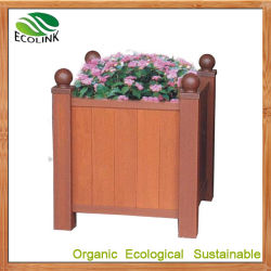 나무 플라스틱 복합재 야외 화분 화초 플라터 정원 장식용