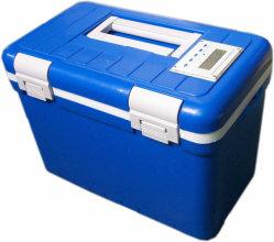 28L Sichere Transportbox für Proben/Temperaturanzeige/langfristige Temperaturkontrolle, intelligenter Transport von Blutproben Kühlkoffer Medizinische Probenlagerung Kühlbox