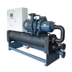 De koude In het groot Water Gekoelde 407c Harder Aqua van de Compressor van Hanbell van de Schroef van de Glycol van het Type Actieve voor de Concrete het Groeperen KoelExtruder van de Machine van de Fles van de Installatie Blazende
