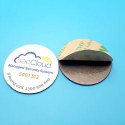 precio de fábrica etiqueta NFC pasivo de la capa de metal Anti 13.56MHz Mifare Classic RFID de PVC de 1K de la etiqueta del disco