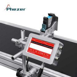 Número de lote lote botella bolsa de plástico de verificación Código de máquina Impresora de inyección de tinta en papel para el trabajo en línea