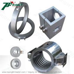 Bloque de fundición de aluminio de doble barril calentadores para máquinas de la extrusora