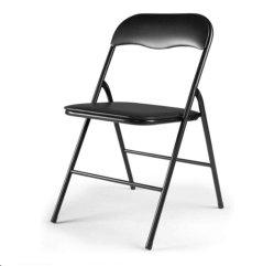 패딩 시트가 있는 다목적 메탈 접이식 의자