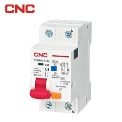 18mm Rcb0 Ycb6hln Disyuntor motorizado Interruptores de control 1 P 2P 3P 1 a 63 AC ELCB RCBO RCCB