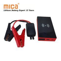 20000mAh の携帯用車ジャンプスタートバッテリーパワーバンク(ワイヤレス) 充電 USB 12V 500A ジャンプ・スタータ