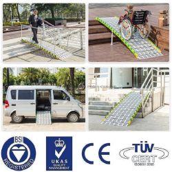 Rampen-faltende Laden-Rampen-Aluminiumstrichleiter der LKW-Schlussteil-halb Schlussteil-Aufnahmen-Treppen-ATV