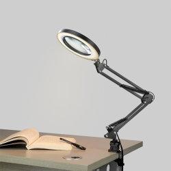 LED USB de 8 W 3 Tabela de Cores da luz da lâmpada da luz de leitura de mesa com 5X Grande Lupa Lupa Luz Beleza Unhas