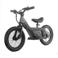Green Power Electric Bike as crianças equilibram a moto 100 W Boy e. Moto elétrica da menina