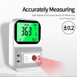 De aan de muur bevestigde Intelligente Vrije Thermometer van de Handen van de niet-Aanraking van de Thermometer van het Wapen van de Palm Digitale met LCD het Systeem van het Alarm van de Vertoning