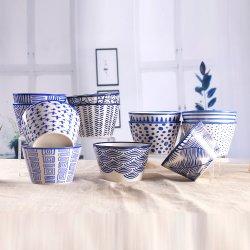 Neue Porzellan-stapelbare keramische Filterglocke-handgemachte blaue keramische Filterglocken