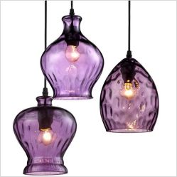 Frasco de vidro colorido luz pendente para Restaurant (GD-640-1ABC)