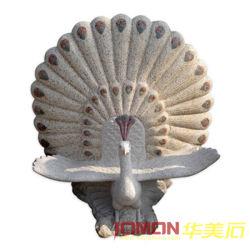 ينحت صوان حجارة طاووس تمثال ([إكسمج-بك01])