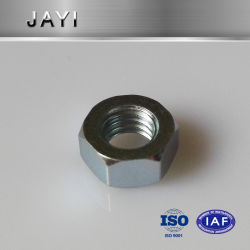 DIN934, un revestimiento de zinc tuerca hexagonal, tornos automáticos realiza la tuerca hexagonal, tuerca de remache
