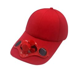 Logotipo bordado personalizado 6 Ventilador Solar Panel gorras de béisbol con el ventilador