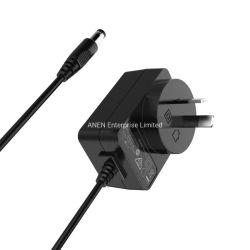 Ausのプラグ15Wの最大ユニバーサル外部5V壁の変圧器9V AC DC電源のアダプター12VはUL FCCのセリウムRcmが付いている出力切換えのモードの電源の単位を選抜する
