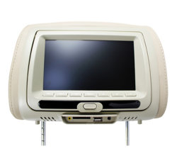 Leder 7 Inch Car Headrest DVD Monitor mit Video MP5/IP/2 Input (Black, Gray, Beige)