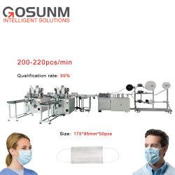 Автоматическая Gosunm сталкиваются медицинские маски бумагоделательной машины ультразвуковые сварочный аппарат с высокой скоростью популярные для экспорта подсети машины