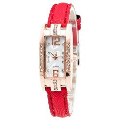 女性は小型ステンレス鋼の水晶腕時計によって個人化される印刷された花に女らしい原因のシリコーンストラップのレディース・ウォッチを作る