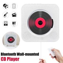 Montaje en pared Reproductor de CD portátil Bluetooth Reproductor de música en casa altavoces HiFi Builtin