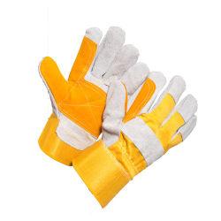 Commerce de gros industriels mécanique de protection des gants de travail de sécurité en cuir de vache