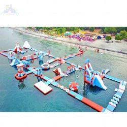 ملعب للأطفال في الهواء الطلق منتزهات مائية قابلة للنفخ للأطفال والبولع معدات التوقف المائي