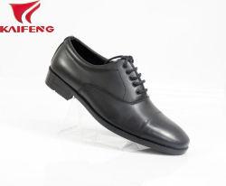 Diseño clásico auténticos zapatos de vestir uniforme de cuero de vaca