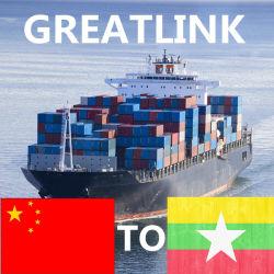 El transporte de carga de China, Birmania Kawthaung