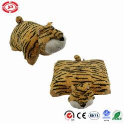 Mascota tigre de peluche de la plaza de tacto suave almohada COJÍN 2in1