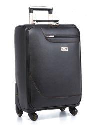 Chariot de bagages en cuir artificiel de gros bagages de voyage