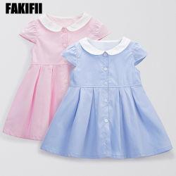 Marca de fábrica OEM/ODM verano ropa de tejido de algodón niña bebé vestido de desgaste para bebés