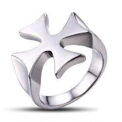 Los hallazgos de joyas Joyas de metal médicos Anillo de la cruz