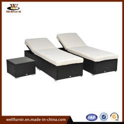 3 Piezas de mimbre al aire libre Piscina chaise lounge muebles (WF-1710195)