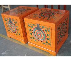 Meubles anciens en bois peint chinois Trunk FLM087