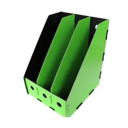 Organizador plástico del rectángulo del sostenedor del fichero del compartimiento del escritorio del hogar de la oficina de 3 columnas