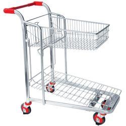ヘビーデューティ高品質スチールツールトロリープラットフォーム保管ロジスティックス Troley Warehouse Trolley Cart