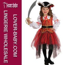 الأطفال الفتيات Cosplay حزب القراصنة كوستيوري اللباس من أجل هالوين (L15286)