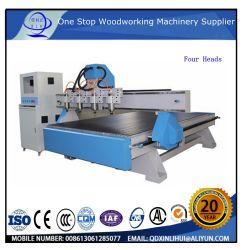 Vier Kopf-ATC-automatisches Hilfsmittel, das Belüftung-Tür-Furnierholz gedruckte Schaltkarte bildet das Holz schnitzt Maschine für Marmor-/Granit-Blaukugel-Ausschnitt Carving_Machine Schulmöbel ändert