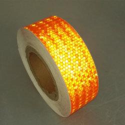 安全のためのオレンジカラー付着力の蜜蜂の巣PVC反射テープ