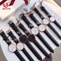 L'Ouest OEM personnalisés Fashion Style imperméable en cuir hommes dw montre-bracelet -v18