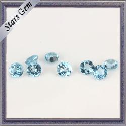 Transparente natural topázio azul Cordão Gemstone Suíço