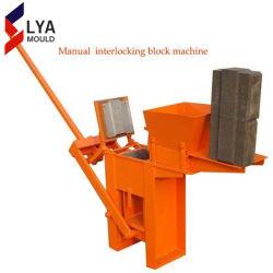 Petit manuel de machine à fabriquer des briques du sol bloc de verrouillage