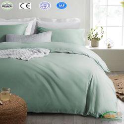 Klassische Bettwäsche-gesetztes graues blaues Bettwäschen4pcs/set Duvet-Deckel-Bett-Blatt