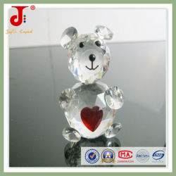 Heart를 가진 대중적인 Home Decoration Animals Crystal Bear