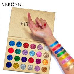 Maquillage cosmétiques Veronni 24 couleurs Shimmer Glitter Palette d'ombre de l'oeil