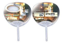 Ventilateur de la main de bambou OEM avec la forme ronde