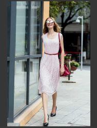 De la mujer de moda sexy vestido de encaje Sleelveless Slim