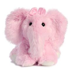 愛らしいカスタム毛皮で覆われたプラシ天の明るいピンク象のテディー・ベアのおもちゃ