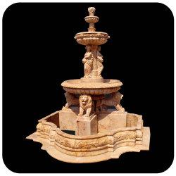 Venta caliente hermosa piedra tallada de lujo en exterior o jardín interior de la Fontana de mármol, fuentes de agua