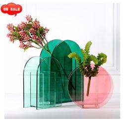 Vaas van de Bloem van de douane de Creatieve Decoratieve Acryl voor het Decor van het Huwelijk van het Huis